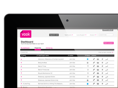 Vook Dashboard design user experience ui design ux design web design product design