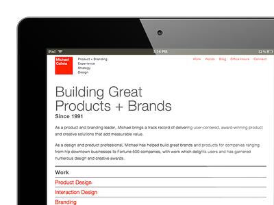 calleia.com portfolio site relaunch italian modern swiss helvetica clean minimalist design portfolio site website