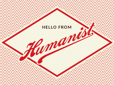 Hello From Humanist identity brand design branding logo design logo