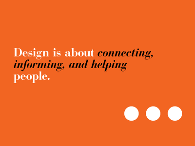 Design is... playoff design is typography italian modern bodoni minimalist
