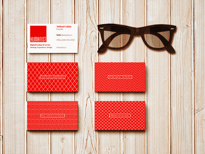 Humanist Business Cards branding business cards. identity