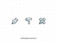 50 Design Vector Line Icon