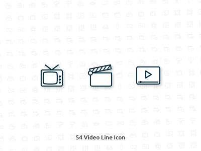 54 Video Vector Line Icon
