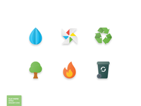48 Nature & Ecology Flat Paper Icon