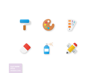 Design Flat Paper Icons