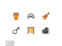 33 Music Instruments Icon