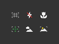 57 Photography & Image Flat Paper Icons