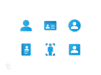 Users Flat Paper Icons