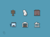 Places Outline Color Icons