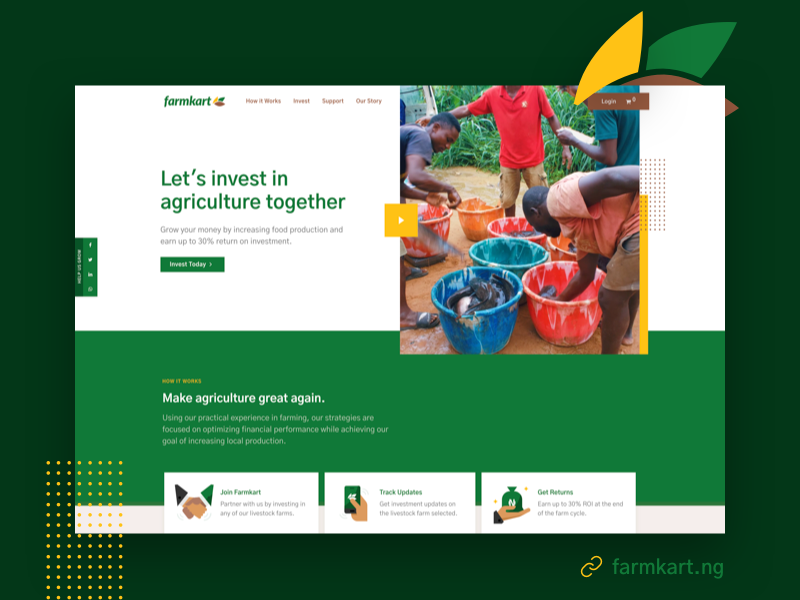 farmkart.ng user experience web development web design green ux ui website farming