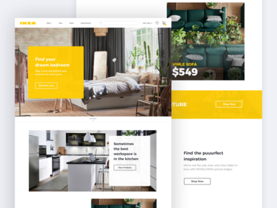 🛋️ IKEA Redesign: Homepage