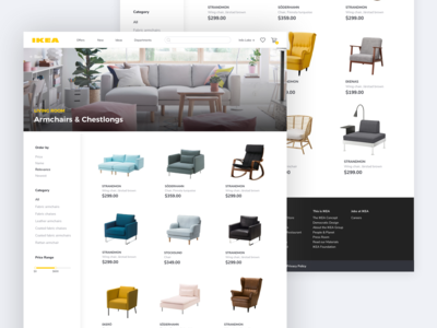 🛋️ IKEA Redesign: List of Products