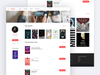 📖 Goodreads Redesign: Profile page