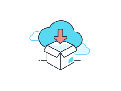 Illustration For Logistics From The Cloud motus arrow package cloud