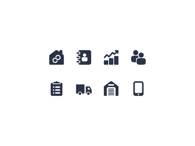 Module Icons icons devices warehouse transports tasks user dashboard contacts mymotus