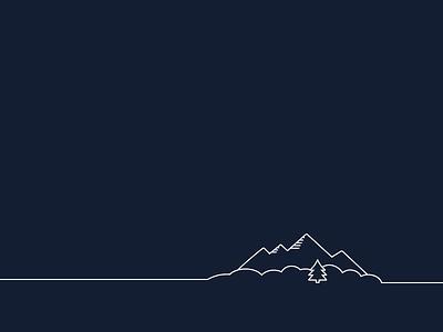 Illustration For Location Munich landscape mountain munich location line illustration