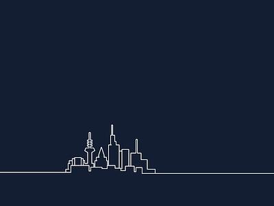 Illustration For Location Frankfurt skyline skyscraper city frankfurt location line illustration