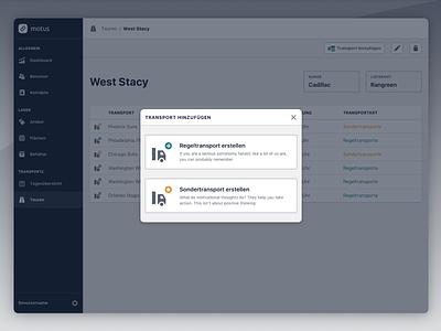 Choose A Transport ui ux icons dialog modal module webapp design interface options transport application