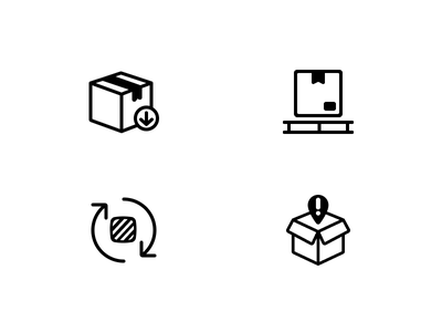 MDE Menu Icons palette area info package line simple process logistic icons