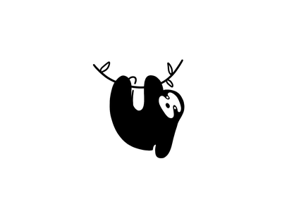 don't hurry - be happy! handdrawn black  white animal relax chill sloth