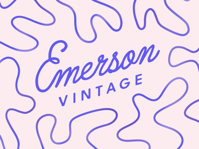 Logo for Emerson Vintage graphic design illustration vintage design vintage logo handwritten font typography lettering branding logo design