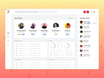 Budde Music CRM Concept contacts crm portal interface app ux ui design
