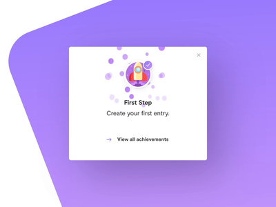 Achievements for skara company wiki achievements illustration after effects knowledge base interface animation app design ux ui