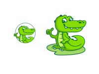 Crocie Friendly crocodile mascot