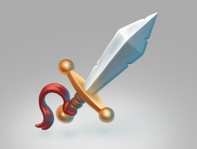 Sword material technique ui artwork digital art illustration digital painting game design game art game steel gold sword
