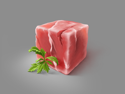 Just a cubed piece of meat painting technique procreate texture practice material illustration meat digital painting cubed artwork