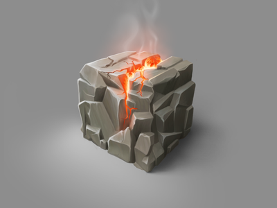 Just a cubed piece piece of rock texture technique procreate practice painting stone rock material illustration digital painting cubed artwork