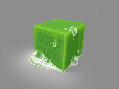 Just a cubed soap game ipad pro procreate digital illustration digital art digital painting painting illustration soap