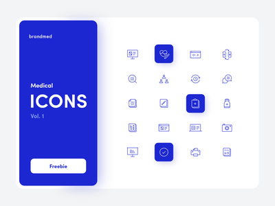 Brandmed Medical Icons vol.1 free ai vector vector icons medicine ui icons free for commercial use icon design medical icons healthcare freebie icons pack iconset icons