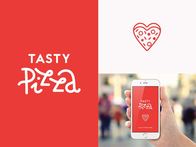 Tasty Pizza symbol minimal logo symbol logo design concept logo design logodesign logo graphic design design branding design branding concept branding app