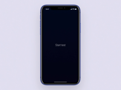 Heart rate check app heart iphonex test heart beat app check heart rate design blue ui motion animation aftereffects