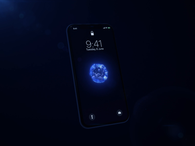 Battery charging visual app visual 3d app charging battery iphonex circle black mobile white sphere blue design ui motion animation aftereffects