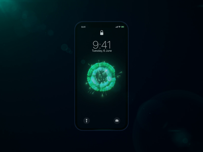 Battery charging visual app #2 particles green white visual ui sphere mobile iphonex design circle charging blue black battery app 3d motion animation aftereffects