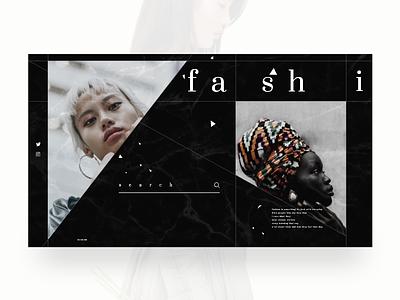 Alternative Fashion marble black design style motion animation fashion photogtaphy art ux ui model