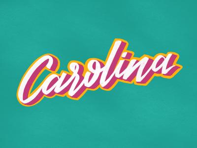 Carolina, freehand lettering