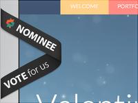 valentinrosciano.com nomine in Awwwards!!