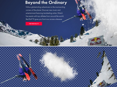 Redbull valentin rosciano scroll parallax animations front-end development photoshop uxui design