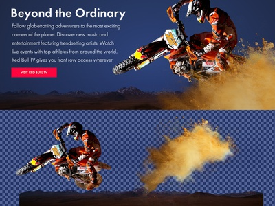 Redbull2 valentin rosciano scroll parallax animations front-end development photoshop uxui design