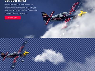 Redbull 3 valentin rosciano scroll parallax animations front-end development photoshop uxui design