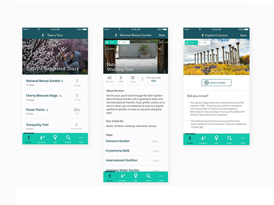 Living museum mobile UI/UX photography mobile ux ui