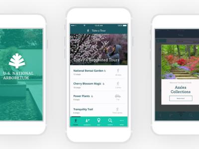 Arboretum Mobile App UI/UX photography plants nfc modal museum mobile ux ui