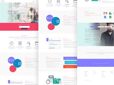 TimeKat Time Tracking App Website purple pink web ui marketing productivity tracking time
