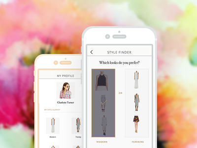 Fashion Shopping Application mobile minimalist fashion profile