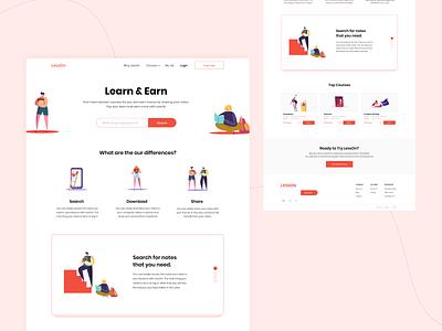 LessOn share download search school project school shot user interface designer student lesson web design user interface dribbble
