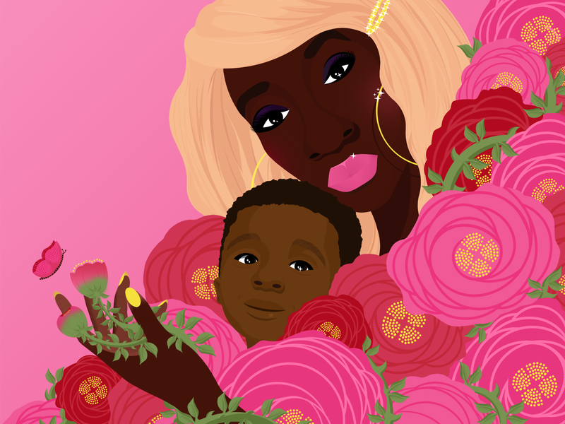 ROSES & RHIZOMES portrait illustration design design illustration