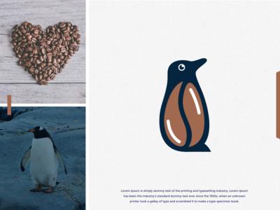 coffee penguin logo design